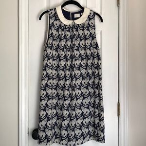 Anthropologie cat print babydoll/A-line dress